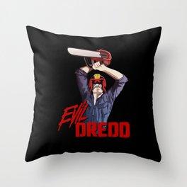 Evil Dredd Throw Pillow