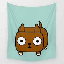 Pitbull Loaf - Red Brown Pit Bull with Cropped Ears Wall Tapestry