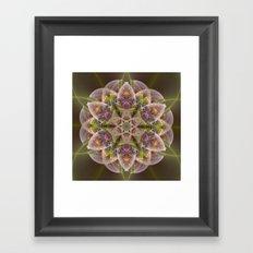 Fantasy flower with tribal patterns Framed Art Print