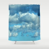 german Shower Curtains featuring German clouds by LoRo  Art & Pictures