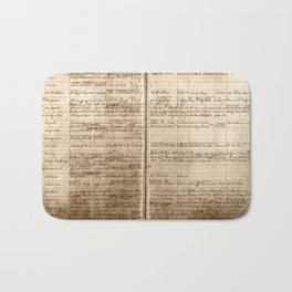 Post Office Postmaster Appointments Antique Paper Bath Mat