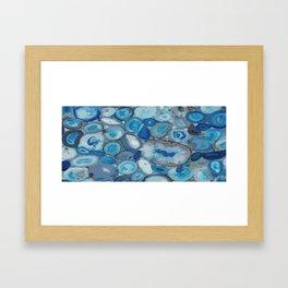 Ivanna Gogh blue quartz geodes surplus Framed Art Print