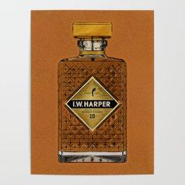 Bourbon Bottle Poster
