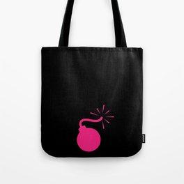 BLACK & HOT PINK BOMB DIGGITY Tote Bag