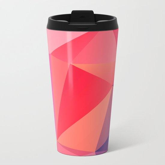 Geometric XXV Metal Travel Mug