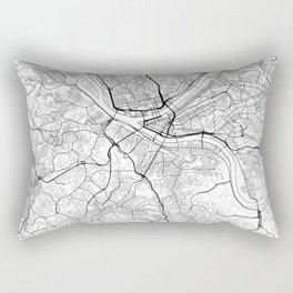Pittsburgh Map White Rectangular Pillow