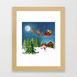 Christmas Scene Framed Art Print