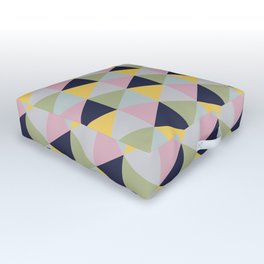 Geometric Print Outdoor Floor Cushion