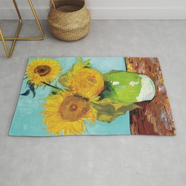 Vincent van Gogh - Three Sunflowers Rug
