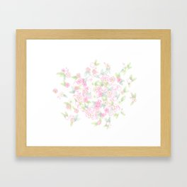 Martha's Flowers Framed Art Print