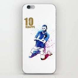 Sports art _ France world cup football 2018 iPhone Skin