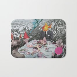 FAMILY AFFAIR- Contemporary Surrealist Collage Bath Mat