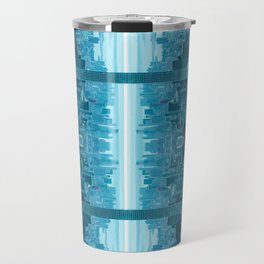 New York City Skyline Sci-fi Surrealism Travel Mug