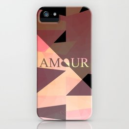 Amour Love Heart Cubic Design iPhone Case