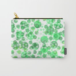 Distressed Green Spots Carry-All Pouch