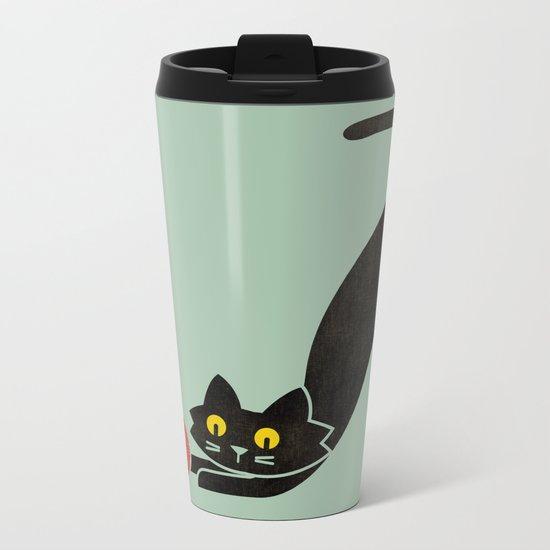 Fitz - the curious cat Metal Travel Mug