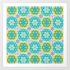 Geodome - Green Art Print