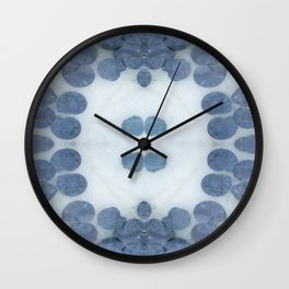 Sea Shell Disco Powder Blue Wall Clock