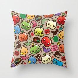 Apple Pattern Throw Pillow