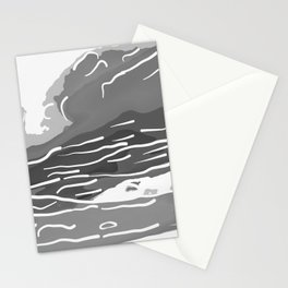 abstract style aurora borealis absbwi Stationery Cards