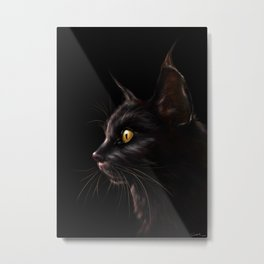 Black Cat V2 Metal Print
