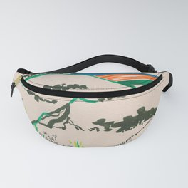 To the beach -Minimalist Landscape Fanny Pack