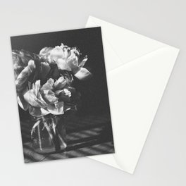 peonies [bw] 03 Stationery Cards