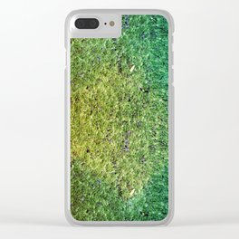 Patchwork Duckweed Clear iPhone Case