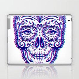 Sugar Skull (Calavera) Chromatic Aberration - Cyan Magenta Laptop & iPad Skin