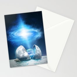 The Universe birth Stationery Cards