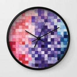 Watercolor 1x1 Wall Clock