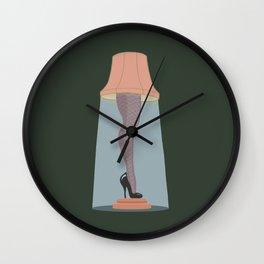 Leg Lamp Wall Clock