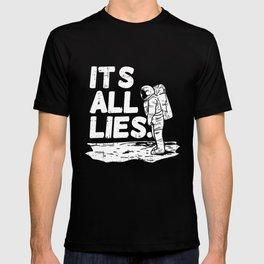 Moon Landing Conspiracy Theory Fake Illuminati Shirt & Gift T-shirt
