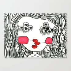 Monster with Cheeks Canvas Print