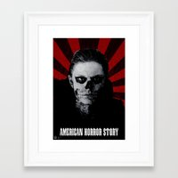 evan peters Framed Art Prints featuring Tate Langdon - Evan Peters - AHS Print by Callum Longworth