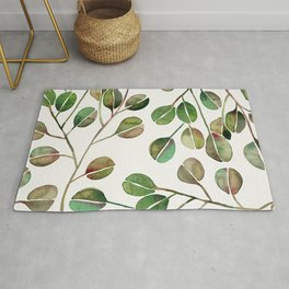 Silver Dollar Eucalyptus – Green Palette Rug