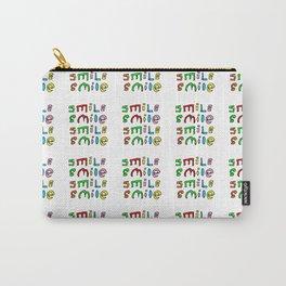 smile 4-smile,happy,fun,color,self esteem, good,positive,laugh,pleasure,joy Carry-All Pouch