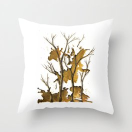 De Oro como Sangrado Estelar Throw Pillow