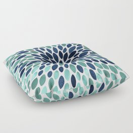 Flower Bloom, Aqua and Navy Floor Pillow