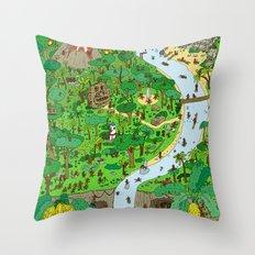 Monkey Jungle Throw Pillow