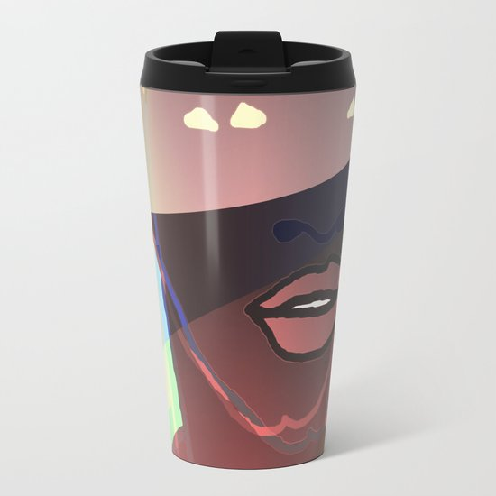 Ebony Coral Headdress Colors Metal Travel Mug