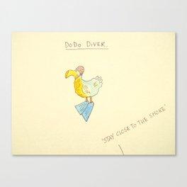 Dodo Diver 'Stay Close To The Shore' Canvas Print