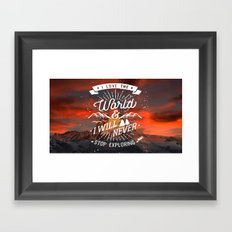 Inspirational Quote and Mountains I Framed Art Print