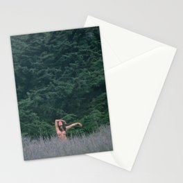 Blurry Greens Stationery Cards