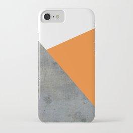 Concrete Tangerine White iPhone Case