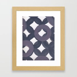 Purple Geo Circles Framed Art Print
