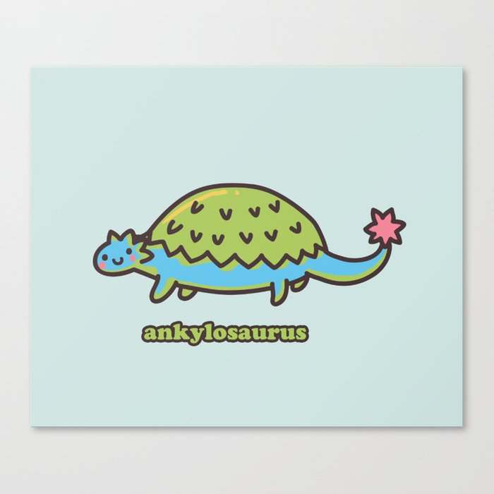 Ankylosaurus Canvas Print