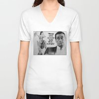 mad men V-neck T-shirts featuring Mad Men by Magdalena Almero