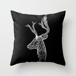 Black and White Deer Throw Pillow