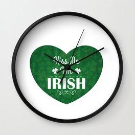 St. Patrick's Day Kiss me Irish Wall Clock